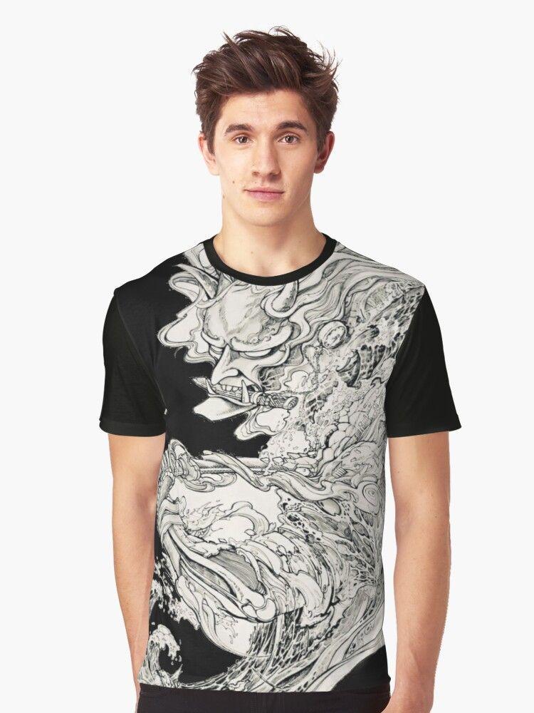 Yakuza Samurai Tattoo Desing Japanese Tattoo Essential T Shirt By Teknodust In 2020 Cool Shirts Unisex Tshirt Clothing Brand