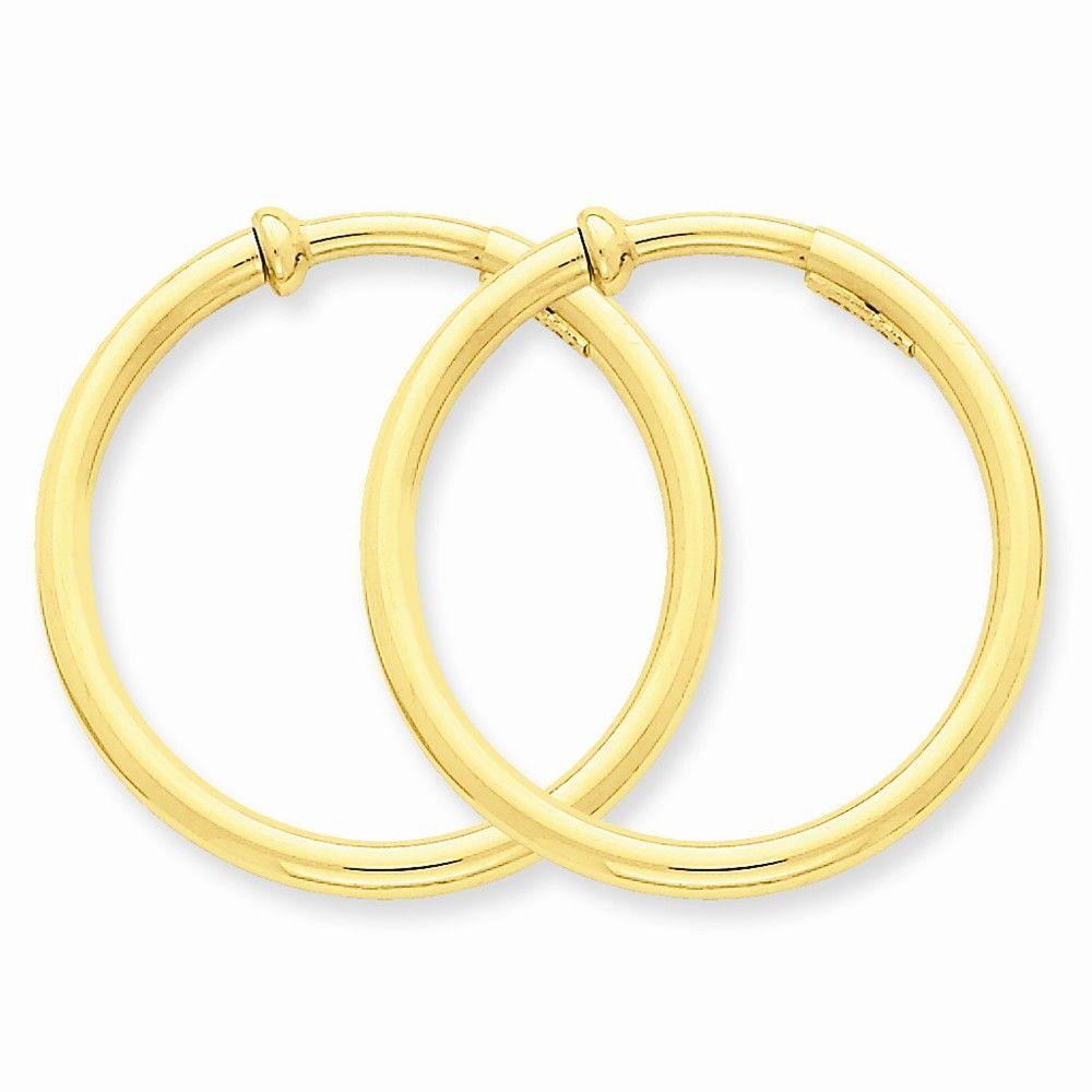 14k Non-Pierced Hoops Earrings