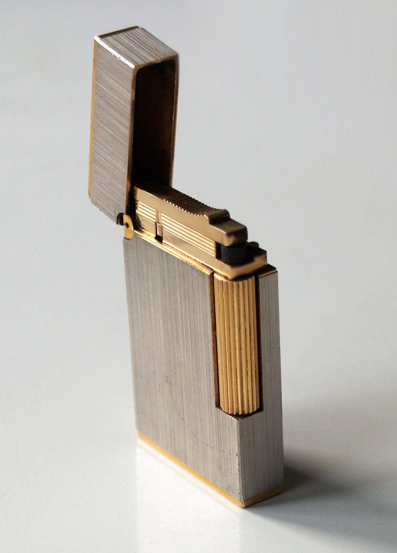 S T Dupont Lighter Made In Paris France Vintage Silver Gold Nice Holiday Gift For Men Dupont Lighter Lighter Holiday Gifts For Men