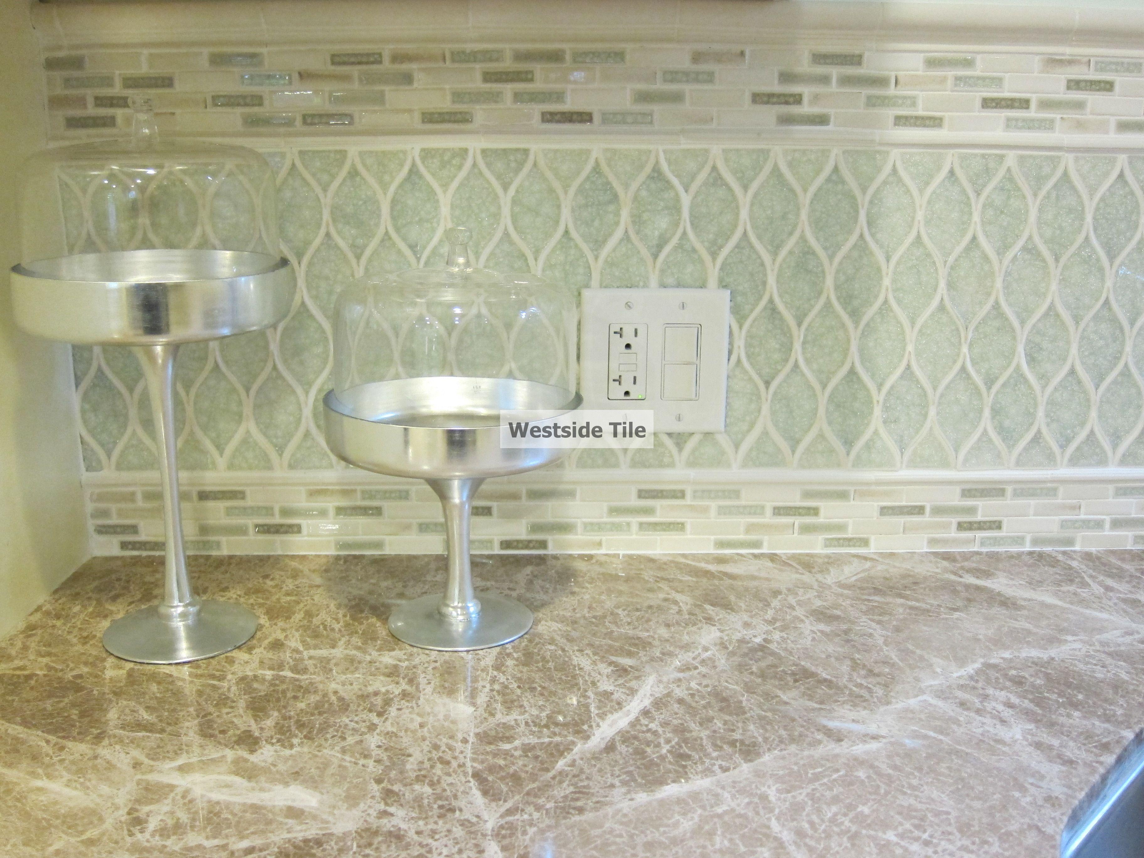 encore ceramics kitchen backsplash wave mosaic in rain color encore ceramics kitchen backsplash wave mosaic in rain color