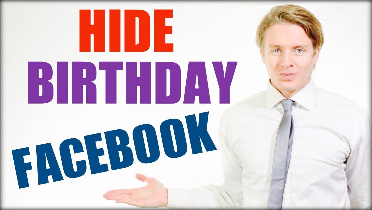 How to hide birthday on Facebook timeline 2016
