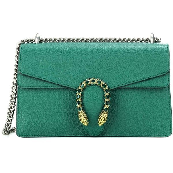 71b3837d8af9 Gucci Dionysus Small Leather Shoulder Bag ($2,490) ❤ liked on Polyvore  featuring bags, handbags, shoulder bags, green, genuine leather handbags,  gucci ...