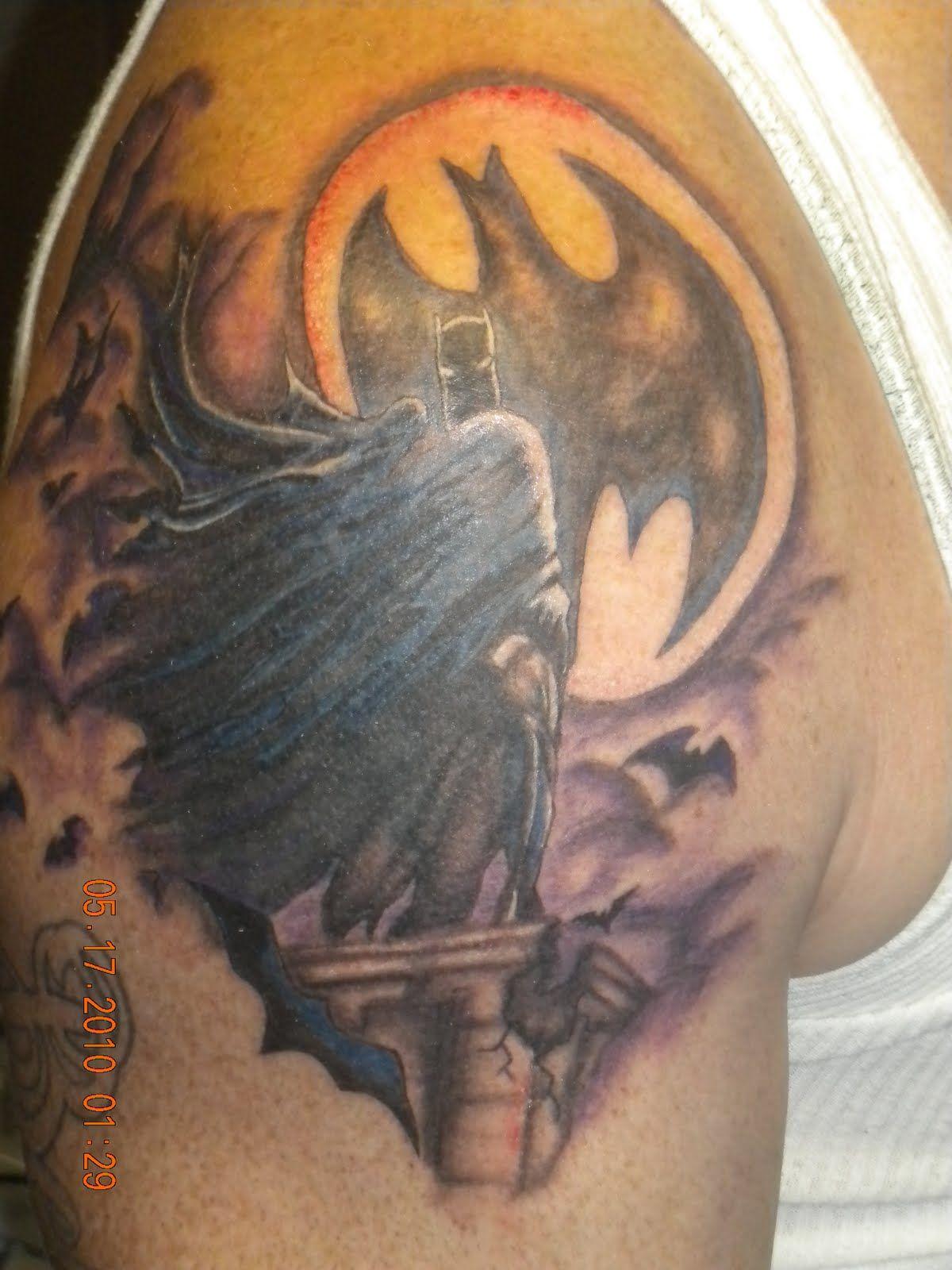 Flaming art tattoo for geek tattoo lovers this kind of batman - Batman Tattoo Sleeve