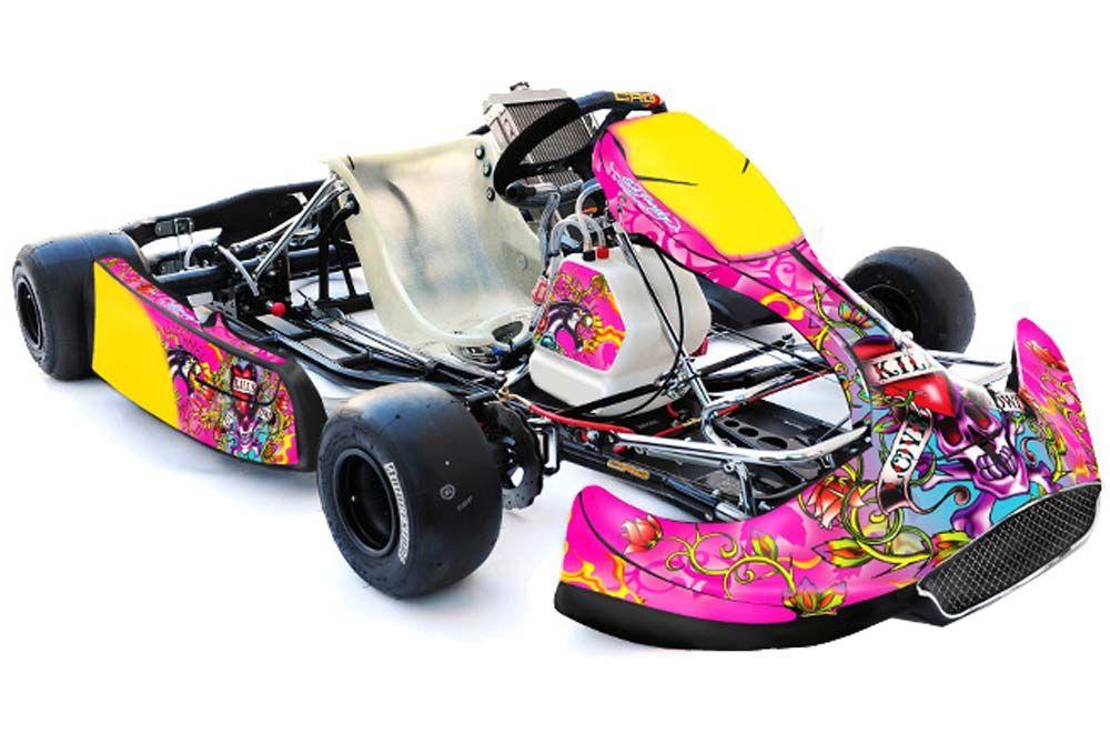 CRG Shifter Kart (New Age Bodywork) Graphics - Ed Hardy Love Kills ...