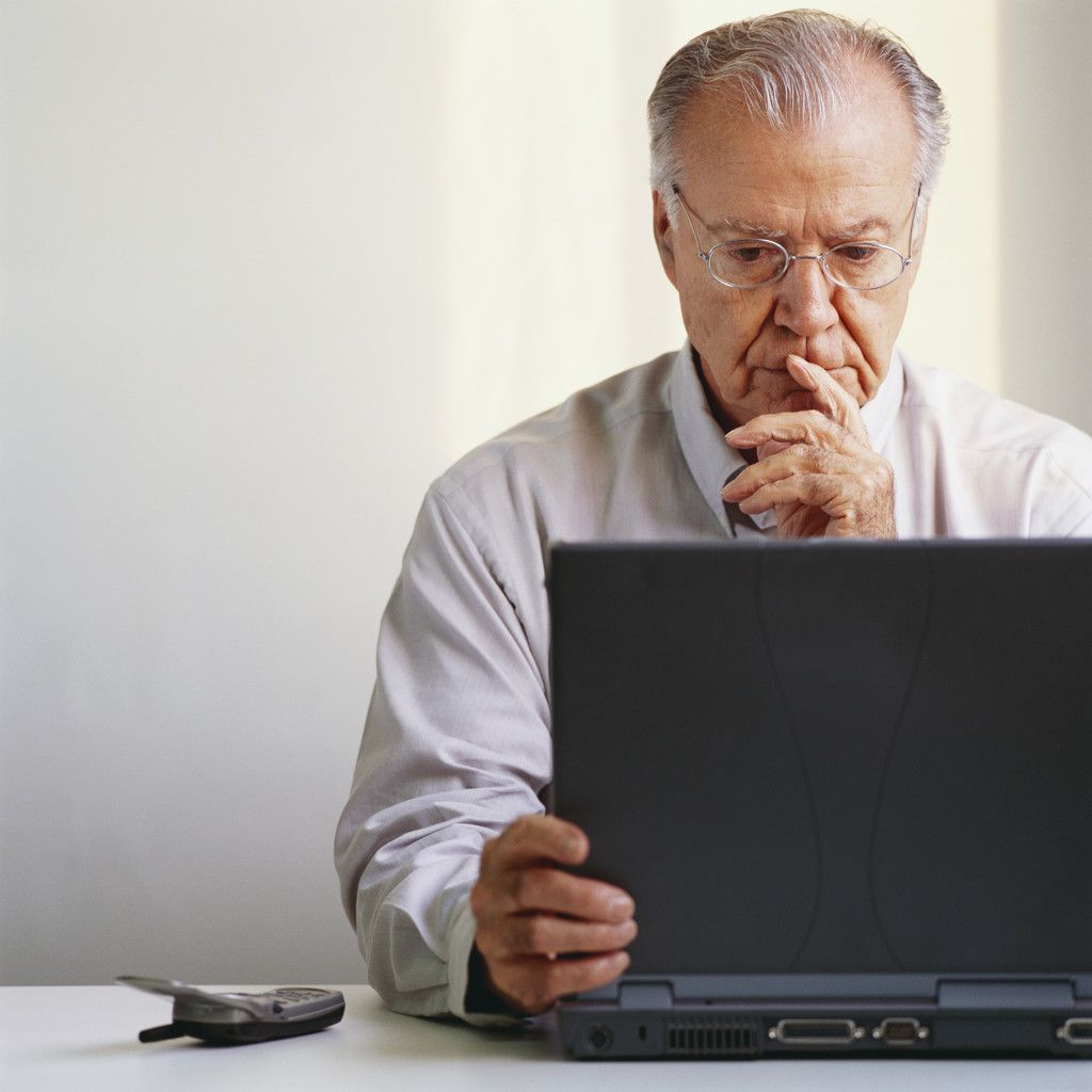 Image result for Images for an older person using a computer