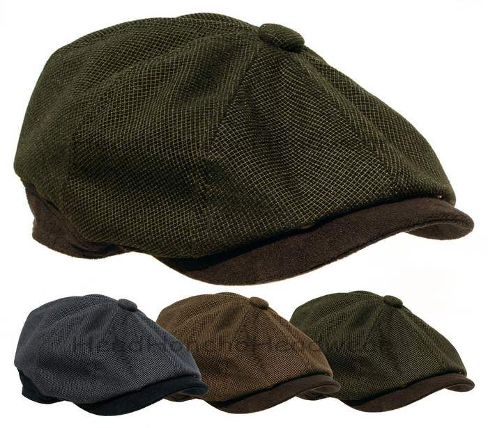 aa47e3161f3 STETSON 8 Panel Newsboy Cap Gatsby Men Ivy Hat Golf Driving wool Flat Cabbie  M L