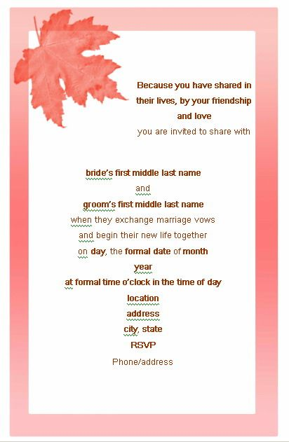 romantic wedding invitation wording My dream wedding Pinterest - marriage invitation mail format