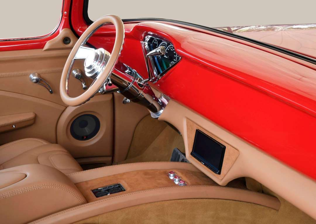 1956 Chevy David Phillips Dash 09 Jpg Hot Rod Network Staff 57 Chevy Trucks Chevy Custom Car Interior