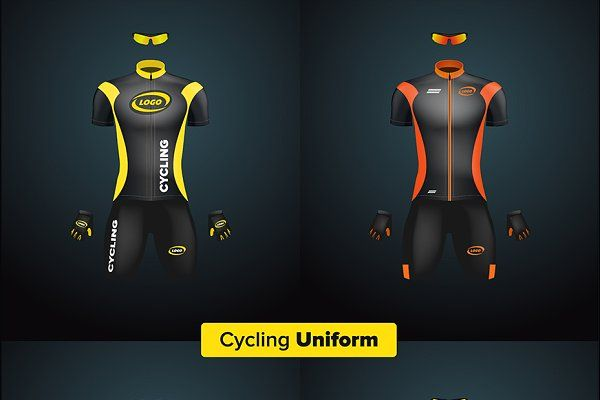Download Realistic Vector Cycling Uniform Set Design Mockup Free Mockup Free Psd Psd Mockup Template