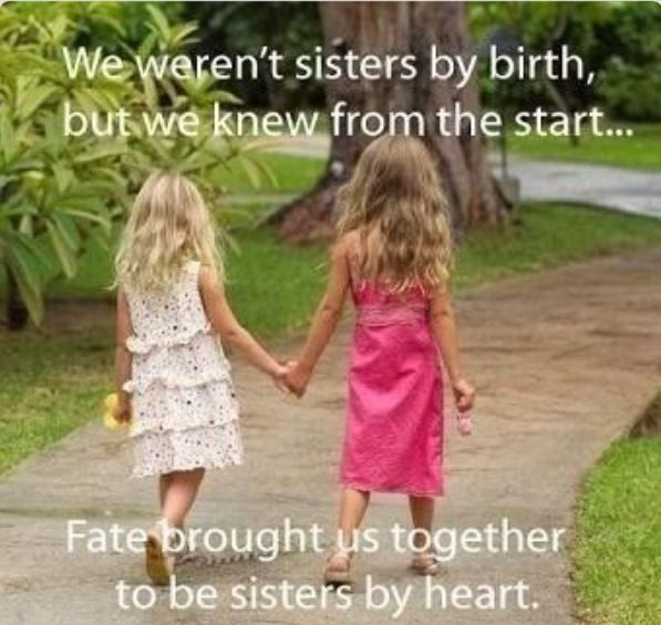 Thanks For Being My Un Biological Sister Friends Quotes Sisters By Heart Sister Quotes