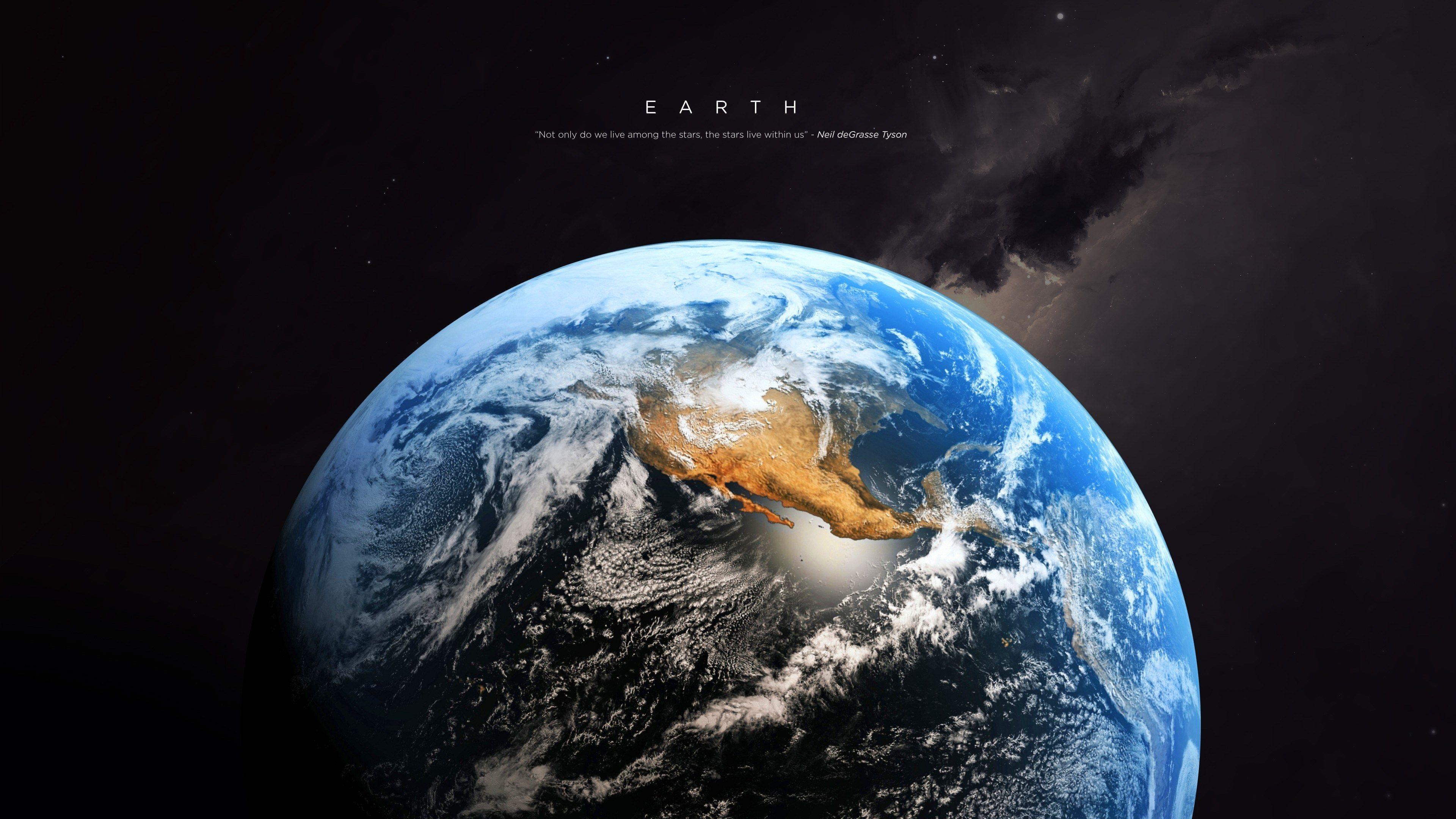 3840x2160 Earth 4k Cool Wallpaper Pc Earth Hd Space Art Wallpaper Earth Earth hd wallpaper download