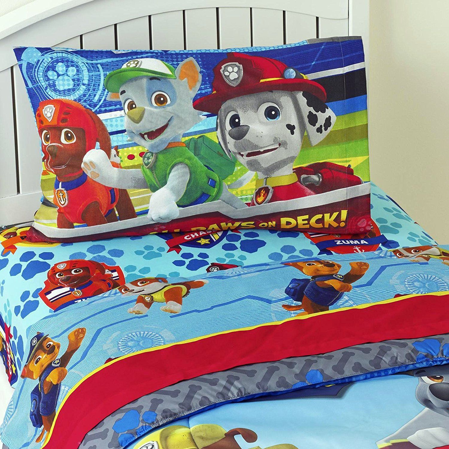 Children Bedding Set 3 Piece Kids Sheet PAW Patrol Twin