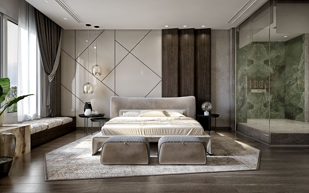 Master Bedroom On Behance Contemporary Bedroom Decor
