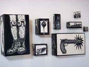 Todd Barricklow: Headlands Installation 2007 ceramic sgraffito
