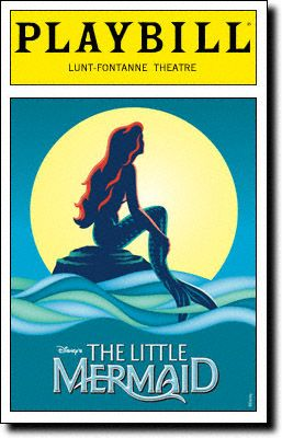 Playbill Cover For The Little Mermaid At Lunt Fontanne Theatre