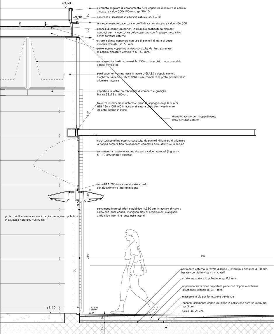 Sergio Fumagalli Palasport A Carnago Details Facades Architecture Details Architectural Section Lanscape Design