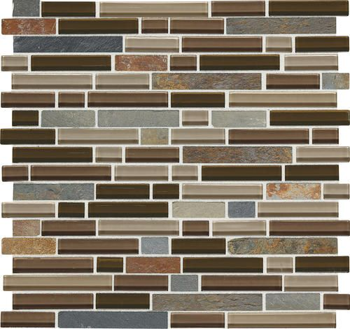 daltile phase mosaics stone and glass wall tile 5/8 | for the home