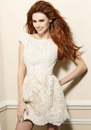 Elegant kurz Lace Abiballkleid Kleid mit Perlen Abendkleider ...