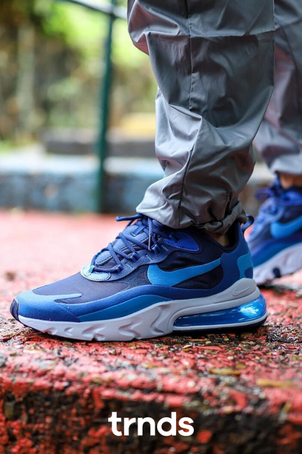 Nike Air Max 270 React Blue Void in 2020 | Nike air max