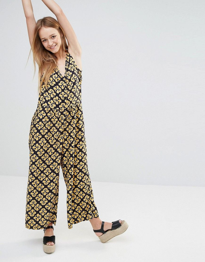 3a2f7ad9718a Monki+70s+Printed+Culotte+Jumpsuit