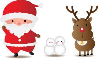 サンタクロースとトナカイのイラスト クリスマス オーナメント サンタクロース イラスト サンタクロース