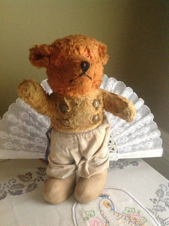 Antique old Teddy Bear Well loved and so sweet.  Take him home