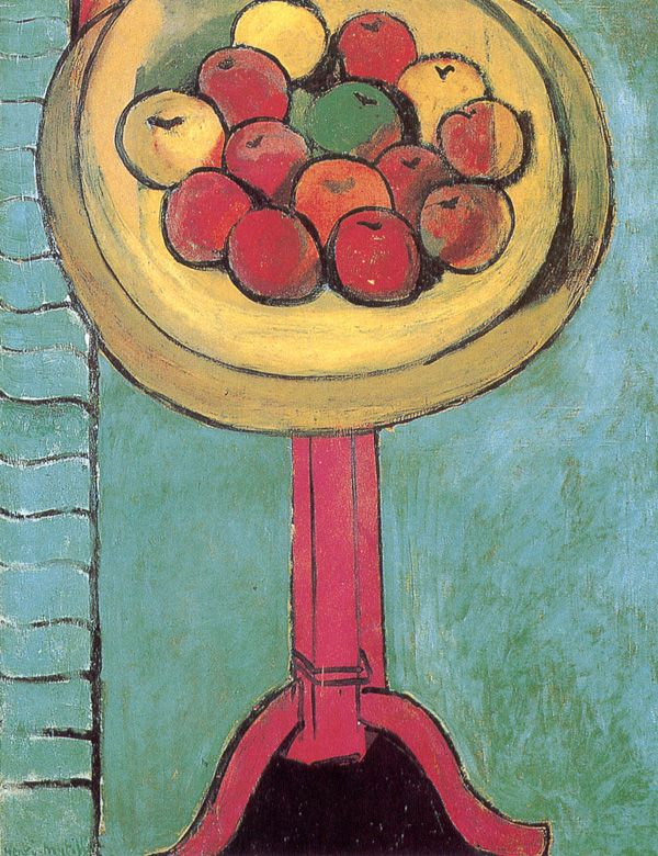 """Apples on a Table (Green Background)"" 