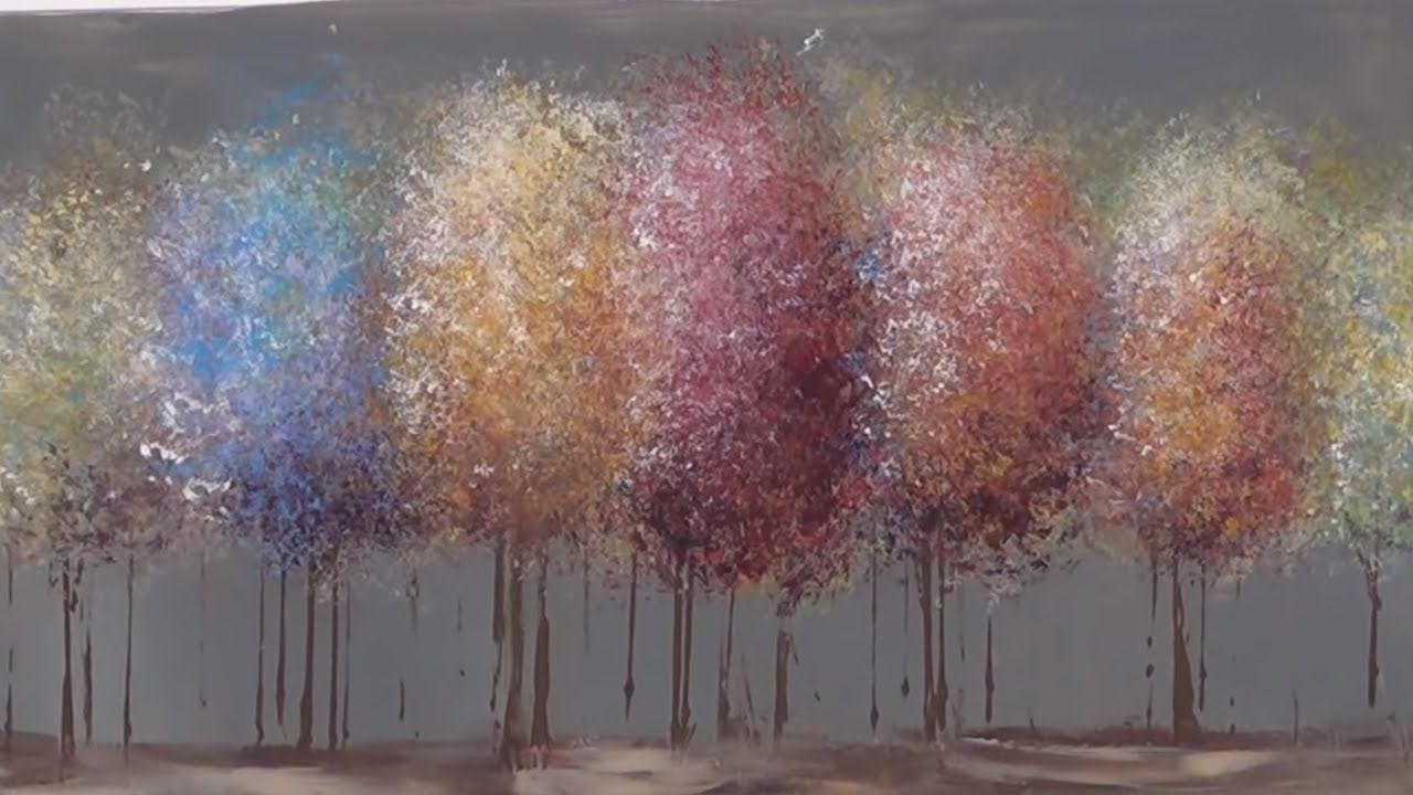 Easy Acrylic Painting Tutorial - Impressionist Trees ...