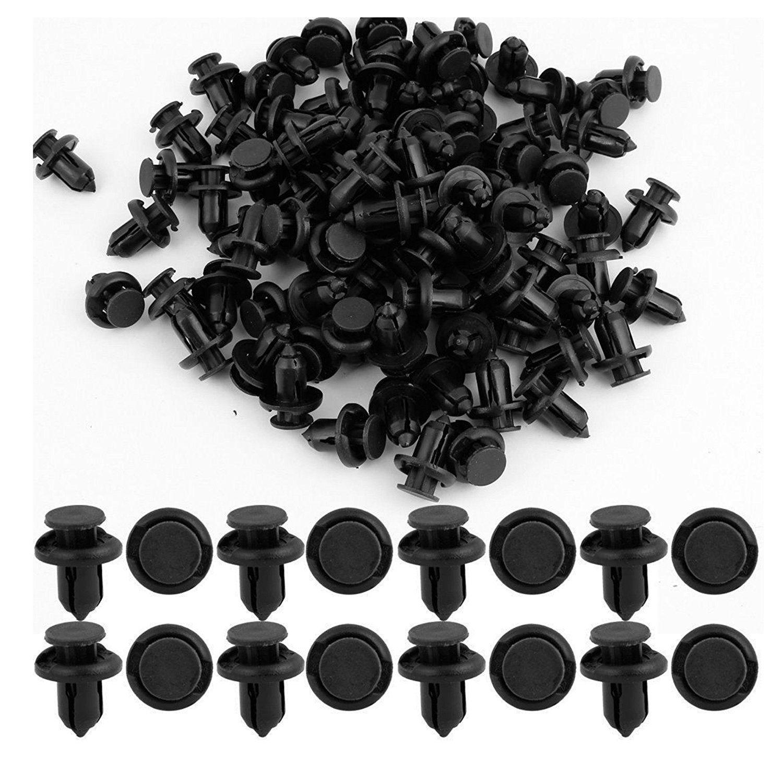 100 Pcs Plastic Push Type Rivet Retainer Fastener Bumper Pin Clips For Ford