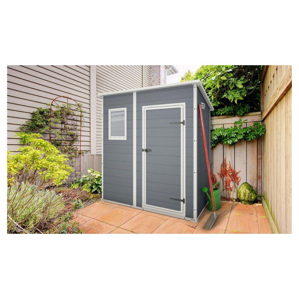 keter manor shed steel grey 200x183x111cm masters home. Black Bedroom Furniture Sets. Home Design Ideas