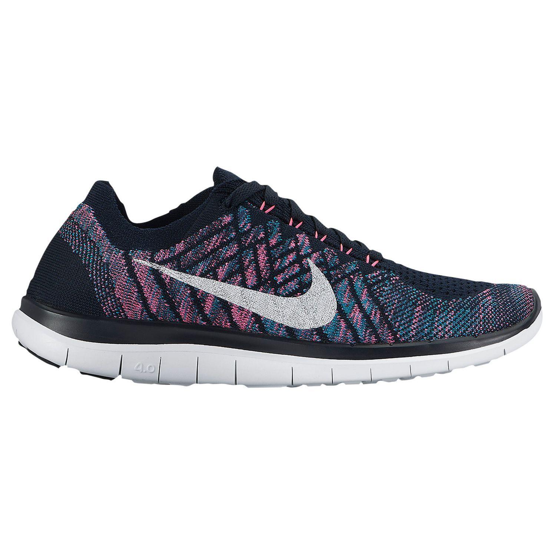 Nike Free 4.0 Flyknit 2015 - Women's - Running - Shoes - Dark Obsidian/White