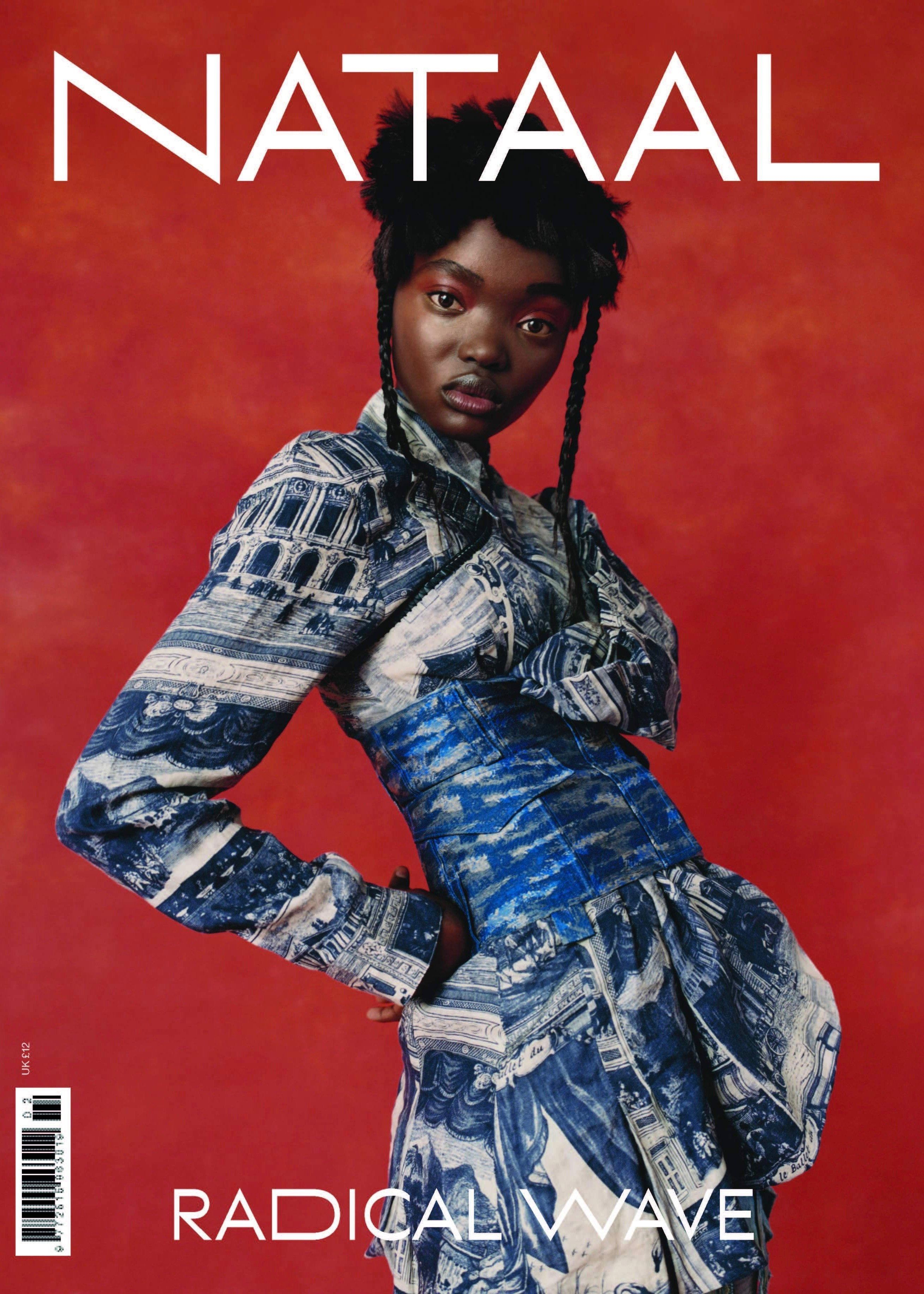 Nataal Magazine's second annual print issue is dedicated to Africa's radical wave and showcases diverse storytelling by inspiring artists around the globe. The large-format magazine has a double cover and 384 pages of fashion, music, visual arts and culture. Exclusives include interviews with Neneh Cherry, Little Simz, Art Comes First, Mowalola Ogunlesi, Nicholas Daley, Bianca Saunders, Maki Oh, Kenneth Ize, MaXhosa's Laduma Ngxokolo, Lukhanyo Mdingi, Fuse ODG, David Adjaye, Jenn Nkiru, Wanuri K