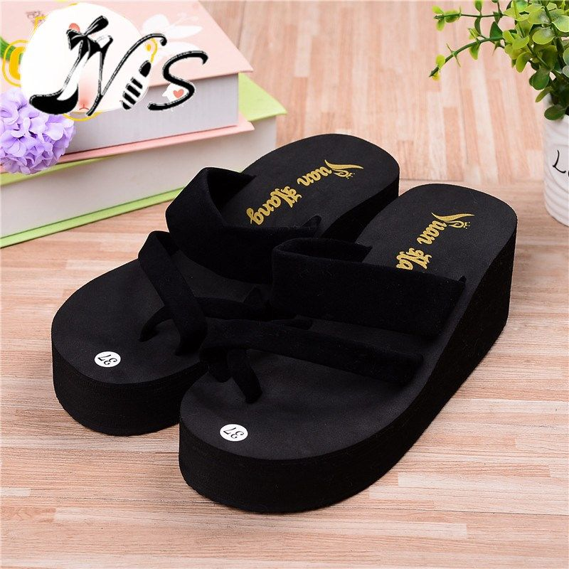 Unisex Non-slip Flip Flops Hand Hold Chick Cool Beach Slippers Sandal