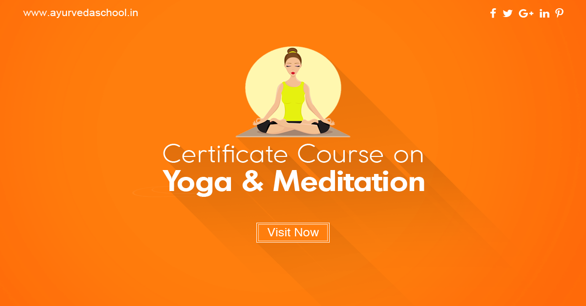 Certificate Course On Yoga And Meditation Hurry Confirm Your