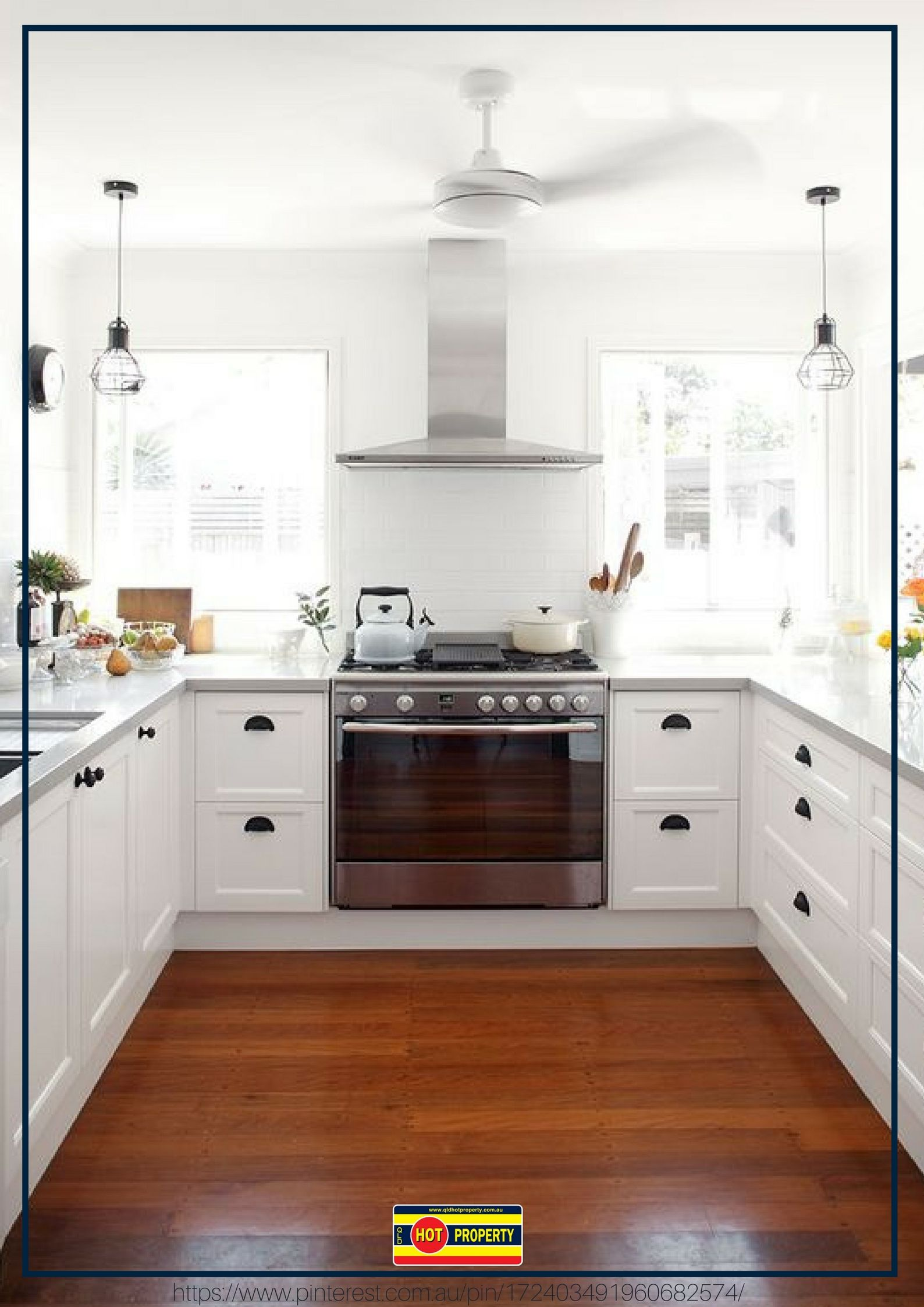 A bright hamptons style kitchen without up to date
