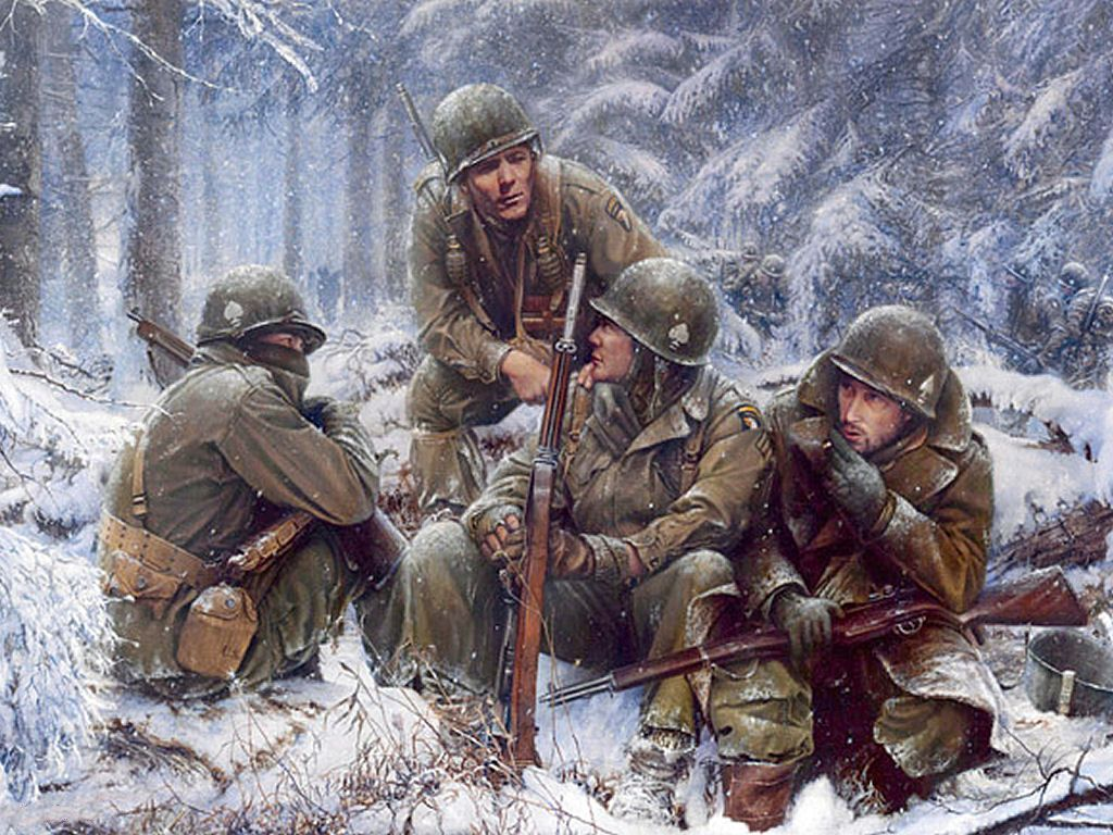Day reenactment ww ii pictures pinterest - 101st Airborne Battle Of The Bulge