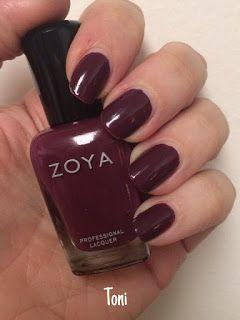 Zoya Merlot Nail Polish In Toni