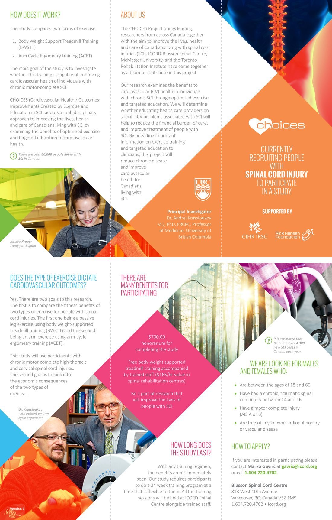 icord choices brochure brochure designed for blusson spinal cord