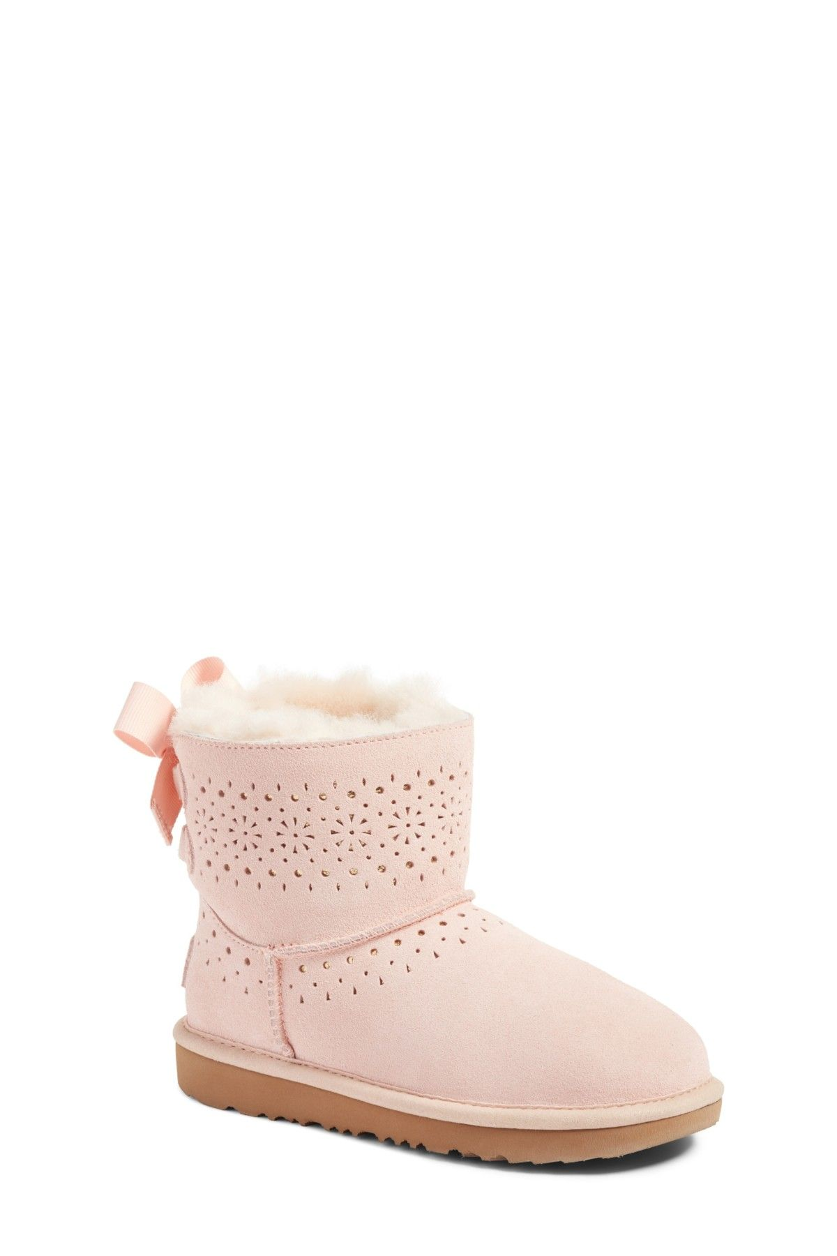 68ceeb2a164d8 Dae Perforated Genuine Shearling Tie Back Boot (Toddler   Little Kid) by  UGG on  nordstrom rack
