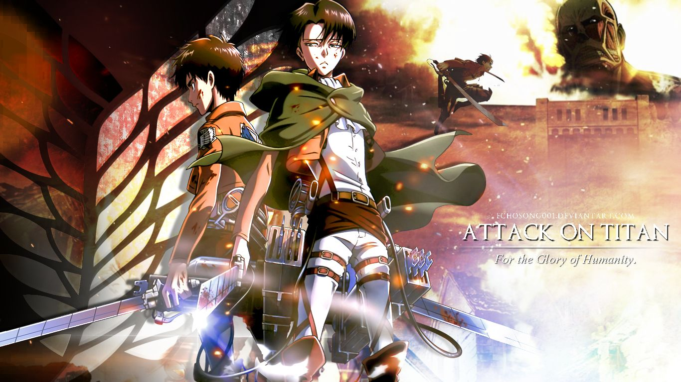 Attack On Titan Logo Wallpaper Karikatur Hiburan Manga