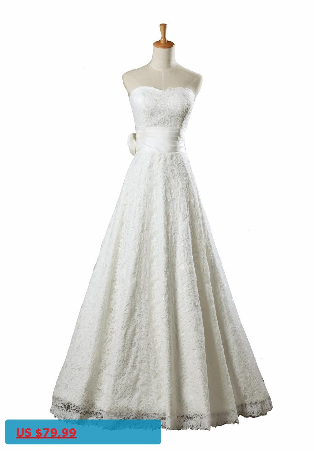 Topqueen az long wedding dresses bridal gown lace wedding dress