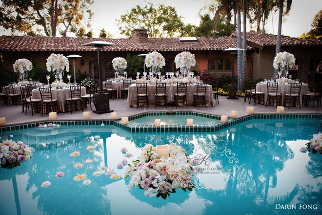Summer Wedding Ideas Pool Wedding Pool Wedding Decorations