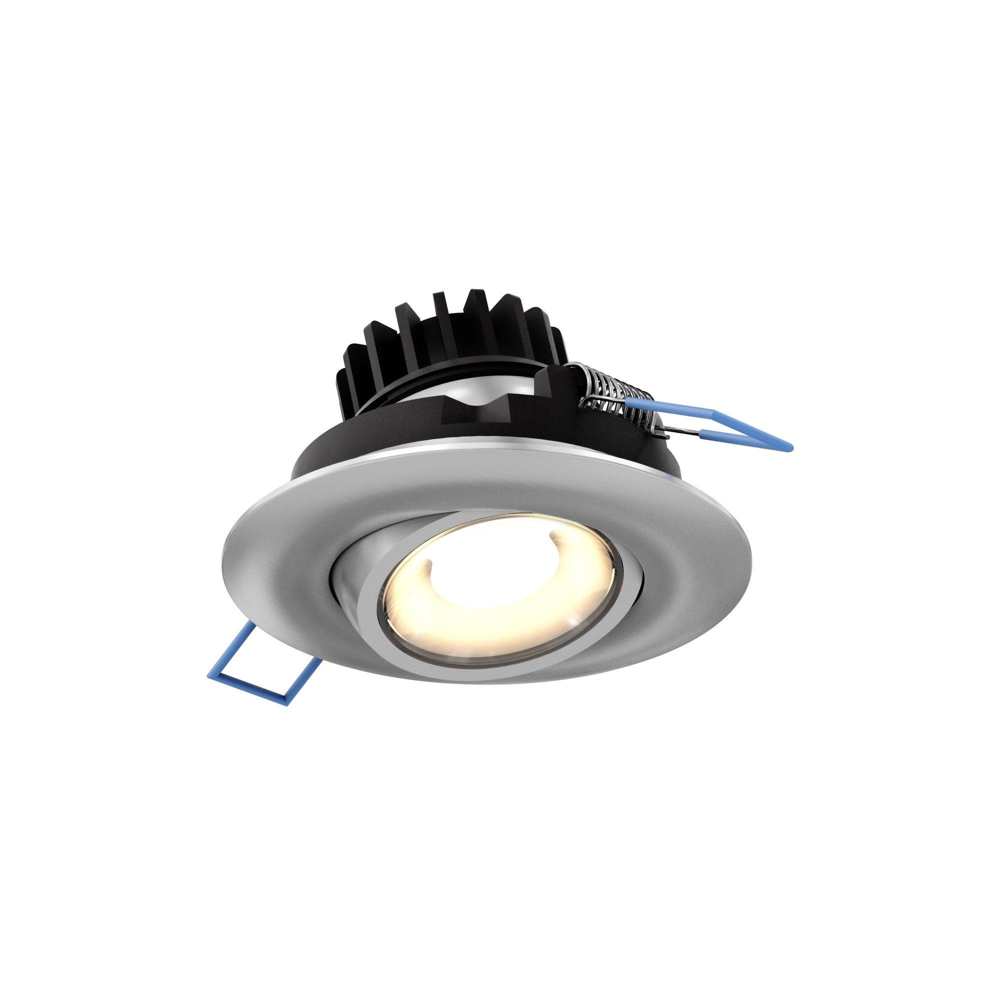 Dals Lighting Leddowng3 Led Gimbal 3 Adjustable Recessed Fixture Satin Grey Recessed Lighting Recessed Lighting Kits Led Kit