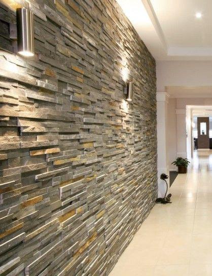 Corridoio Moderno Cerca Con Google Rivestimento In Pietra