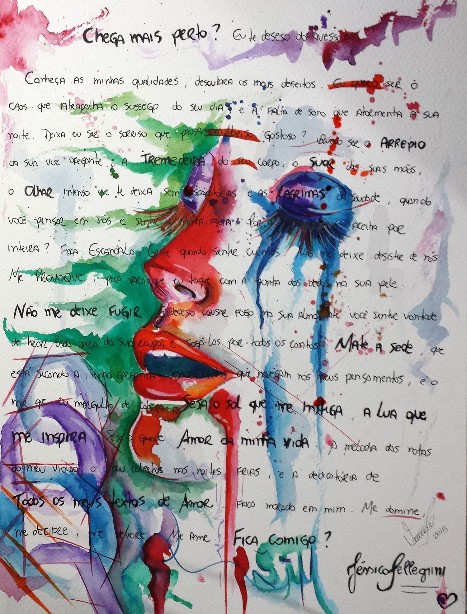 Chega mais Perto #aquarela #watercolor