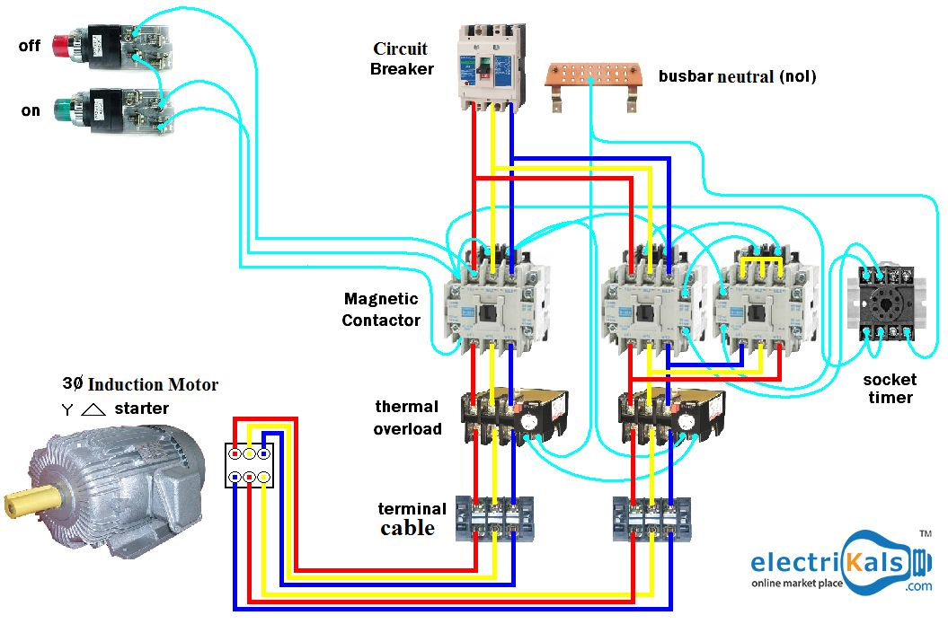 wiring dol startermotor  star delta  electrikals Moped Wiring-Diagram Vespa Scooter Wiring Diagram