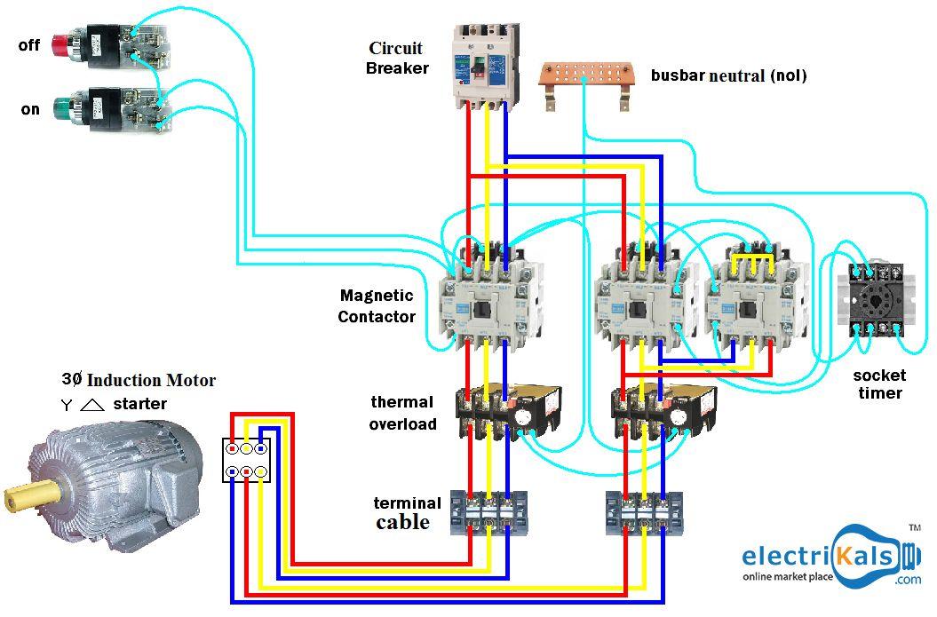 motor starter wiring simulation stop start motor starter wiring diagram wiring dol #startermotor (star - delta) #electrikals # ...