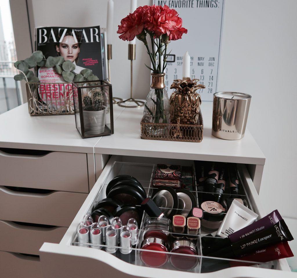 meine kosmetikaufbewahrung – tidyups für den ikea 'alex' | tidyups, Hause ideen