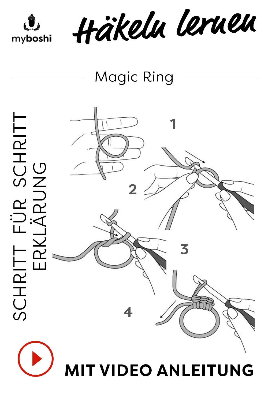 Häkeln lernen, der Magic Ring