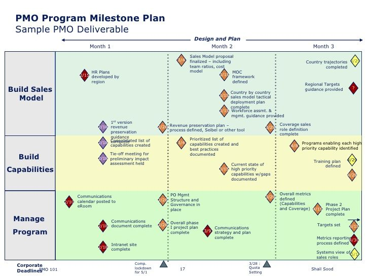 PMO Program Milestone Plan Sample PMO Deliverable Slides - sample work plan template